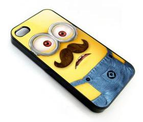 Despicable Me Minion With Mustache apple iphone 4 4s case