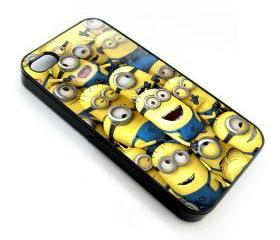Despicable Me Minion Groups apple iphone 4 4s case cover