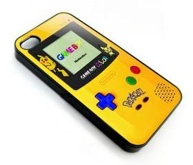 Yellow Pokemon pokebal pikachu Nintendo full color gameboy apple iphone 4 4s case cover