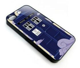 Cool Cartoons Tardis doctor who in the cloud apple iphone 4 4s case cover