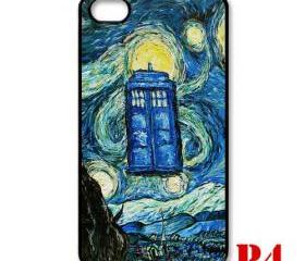 Cool Van gogh zoom Tardis doctor who Starry night apple iphone 4 4s case cover