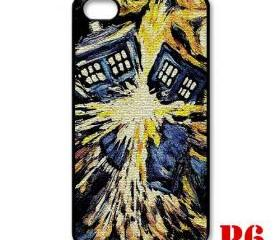 Cool Van gogh Zoom Tardis doctor who Big Exploded apple iphone 4 4s case cover