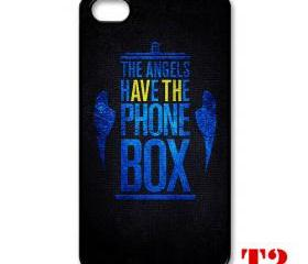 Cool Van gogh Tardis doctor who Typograph The angel have a phone box apple iphone 4 4s case cover