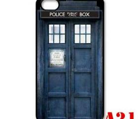 Blue jeans Tardis doctor who apple iphone 4 4s case cover