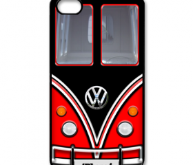 red black VW VOLKSWAGEN Camper kombi mini Van mini bus with Chrome Logo apple iphone 4 4s case cover