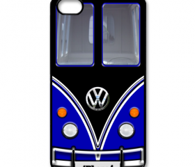 Black Blue VW VOLKSWAGEN Camper kombi mini Van mini bus with Chrome Logo apple iphone 4 4s case cover