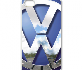 Blue VW VOLKSWAGEN Camper kombi mini Van mini bus Chrome Logo apple iphone 4 4s case cover