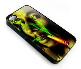 Raggae legend Bob Marley smoking apple iphone 4 4s case cover