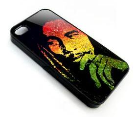 Raggae legend Bob Marley rasta color palette art painting apple iphone 4 4s case cover