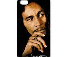 Raggae legend Bob Marley cool pose apple iphone 4 4s case cover