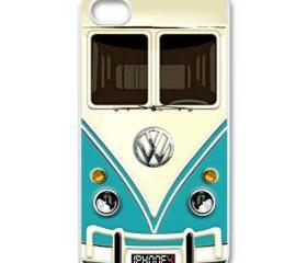 blue VW volkswagen chrome logo apple iphone 4 case cover