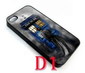 Gothic Tardis doctor who with david tennant in the Fog apple iphone 5 case cover