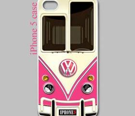 pink VW volkswagen chrome logo apple iphone 5 case cover