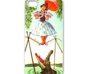 The Haunted Mansion girl with crocodile apple iphone 5 case cover