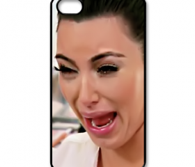 Funny Cute Sad Kim Kardashian Ugly crying face apple iphone 5 case cover