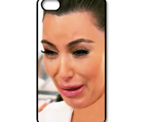 Funny Cute Sad Kim Kardashian Ugly crying face season 2 apple iphone 5 case cover