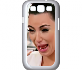 Funny Cute Sad Kim Kardashian Ugly crying face samsung galaxy s3 i9300 case cover