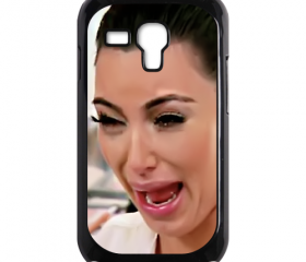 Funny Cute Sad Kim Kardashian Ugly crying face samsung galaxy s3 mini case cover