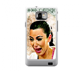 Funny Cute Sad Kim Kardashian Ugly crying face art painting samsung galaxy s2 i9100 case cover