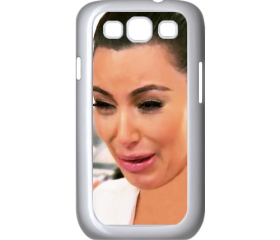 Funny Cute Sad Kim Kardashian Ugly crying face 02 samsung galaxy s3 i9300 case cover