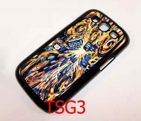 Cool Retro Van Gogh Starry night Tardis Doctor Who Exploded samsung galaxy s3 i9300 case cover