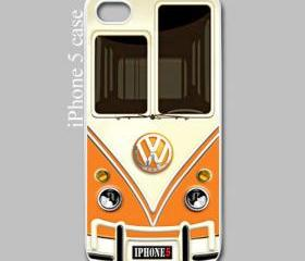 new orange VW volkswagen chrome logo apple iphone 5 case cover