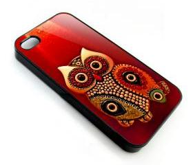Cute red Owl apple iphone 4 4s case