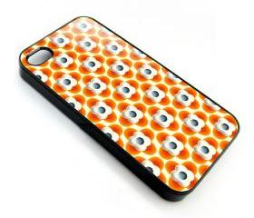 orange flower Multi stem leaf pattern apple iphone 4 4s case